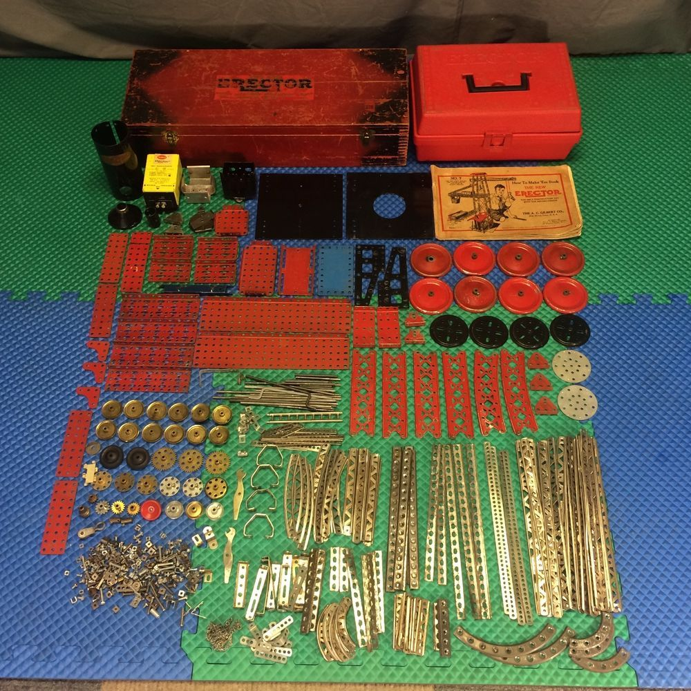 Vintage 1929 Gilbert Big No 7 Steam Shovel Erector Set Parts Lot