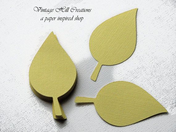 200 Paper Leaf 5 inches  Leaves Yellow by vintagehillcreations