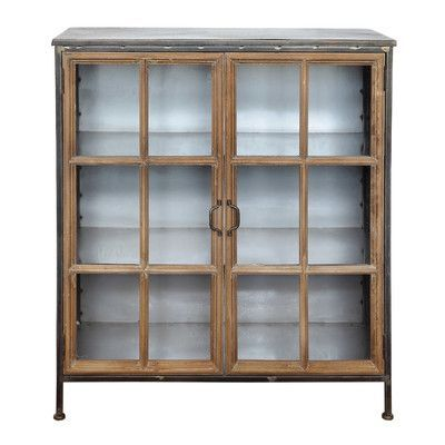 creative co op sonoma 2 door and 3 shelf metal and wood accent rh pinterest es