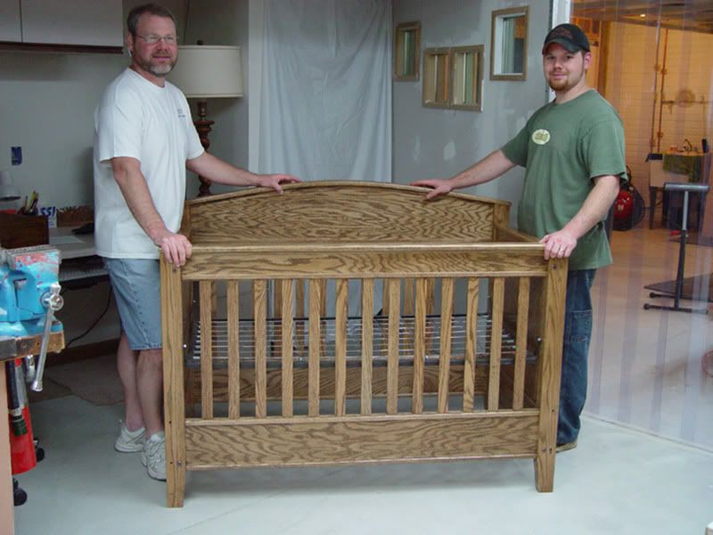 Solid Oak Baby Crib Made With My Son For His First Daughter