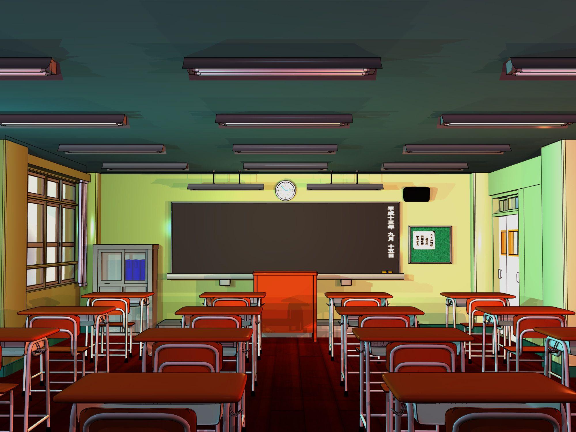 Anime Background Classroom by FireSnake666.deviantart