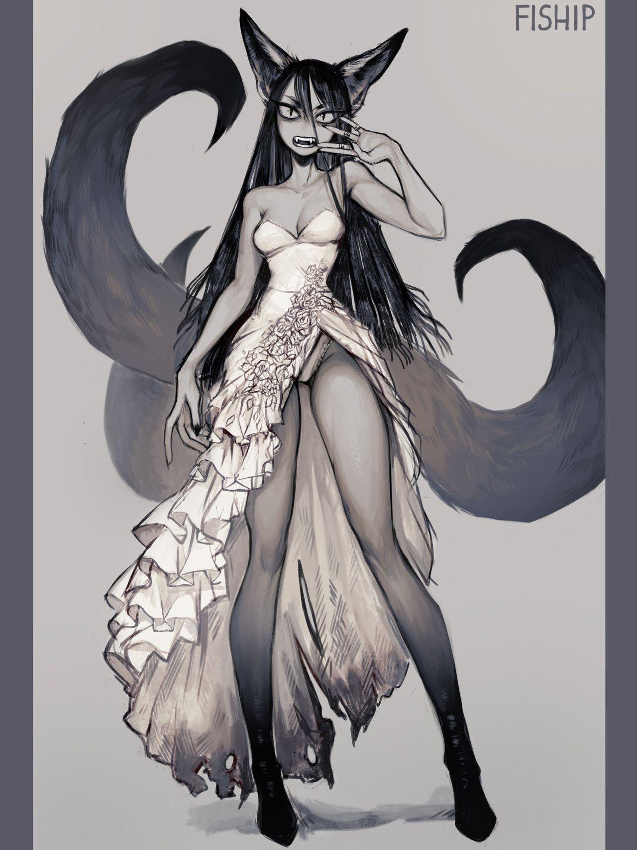Fhtagn tentacles monster art monster girl concept