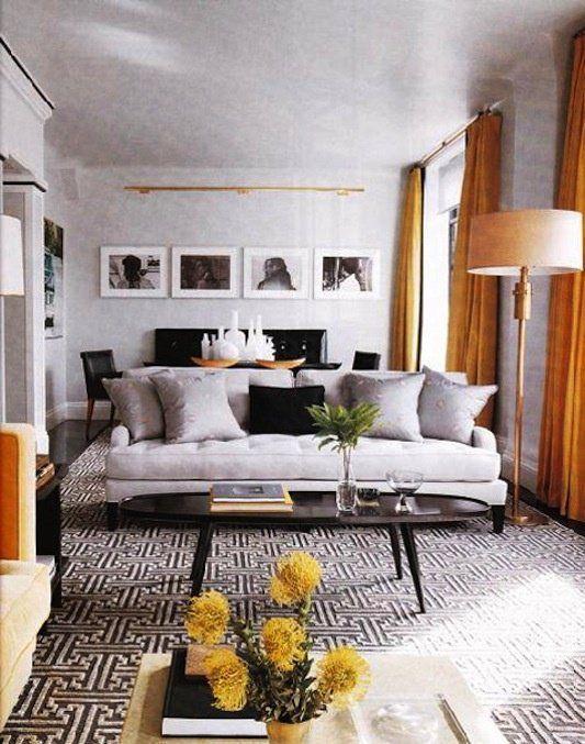 gorgeous gray black white and gold orange living dining room combo rh za pinterest com