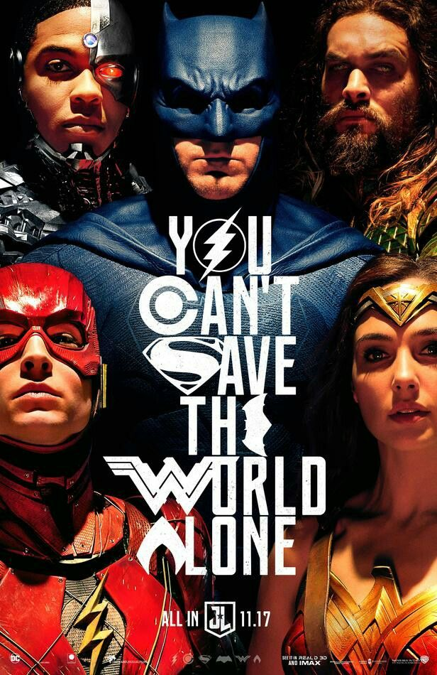 New Justice League movie poster by Alex Cross