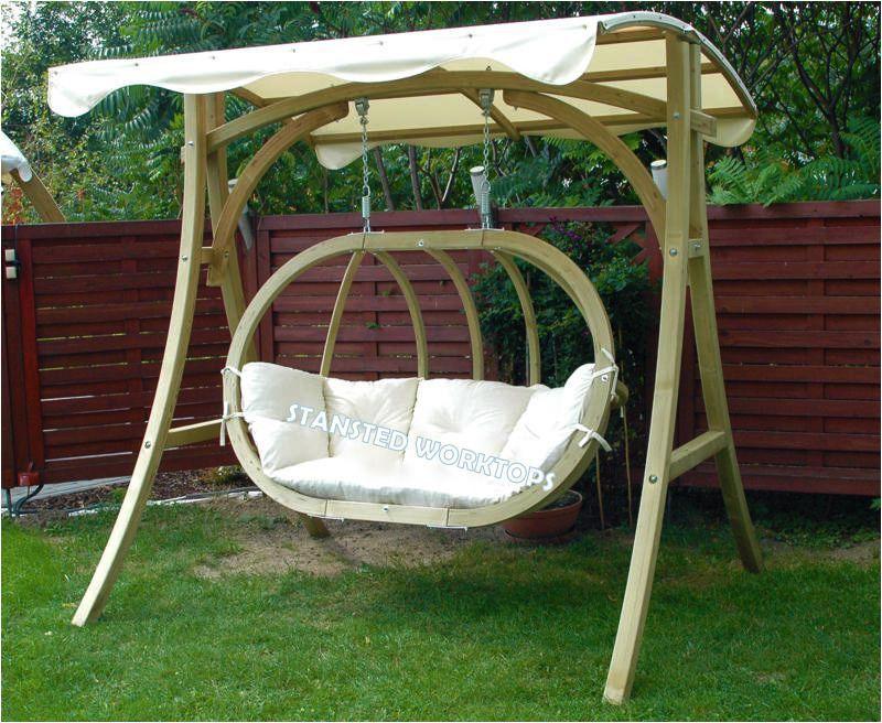 Outdoor Garden Swing Chair 3 Seater Swinging Hammock Cushioned