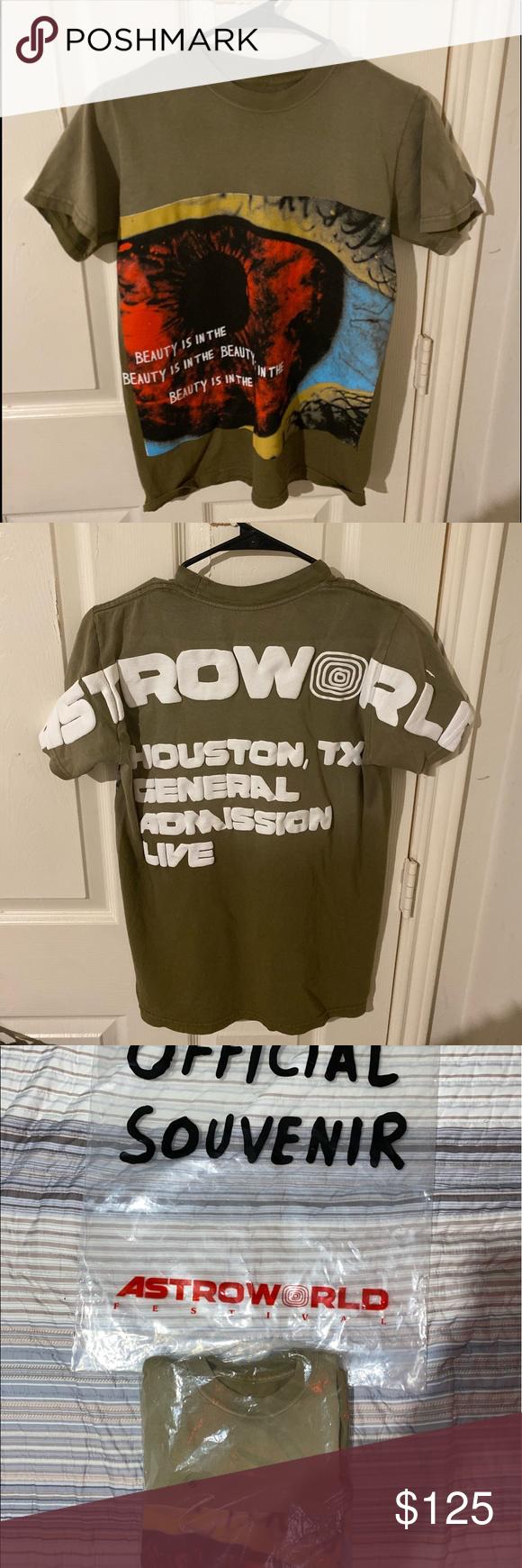 Travis Scott Astroworld Fest Merch 2019 Green Sz S Travis Scott Astroworld Travis Scott Shirt Travis Scott