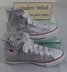 e7f1a90631862 All over sparkling converse , wedding converse , bride converse ...