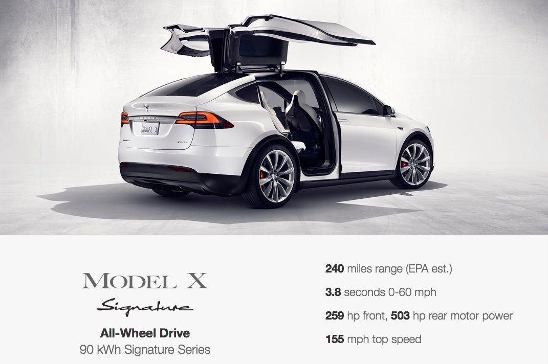 Tesla Model X Will Cost Over 100k Go 240 Miles Per Charge Tesla Model X Tesla Model Tesla