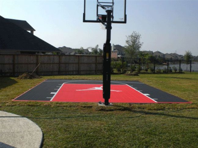 Jordan Logo Basketball Court Backyard Backyard Basketball Outdoor Basketball Court