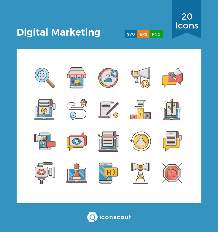 Download Digital Marketing Icon Pack Available In Svg Png Eps Ai Icon Fonts Digital Marketing Marketing Icon Icon Pack