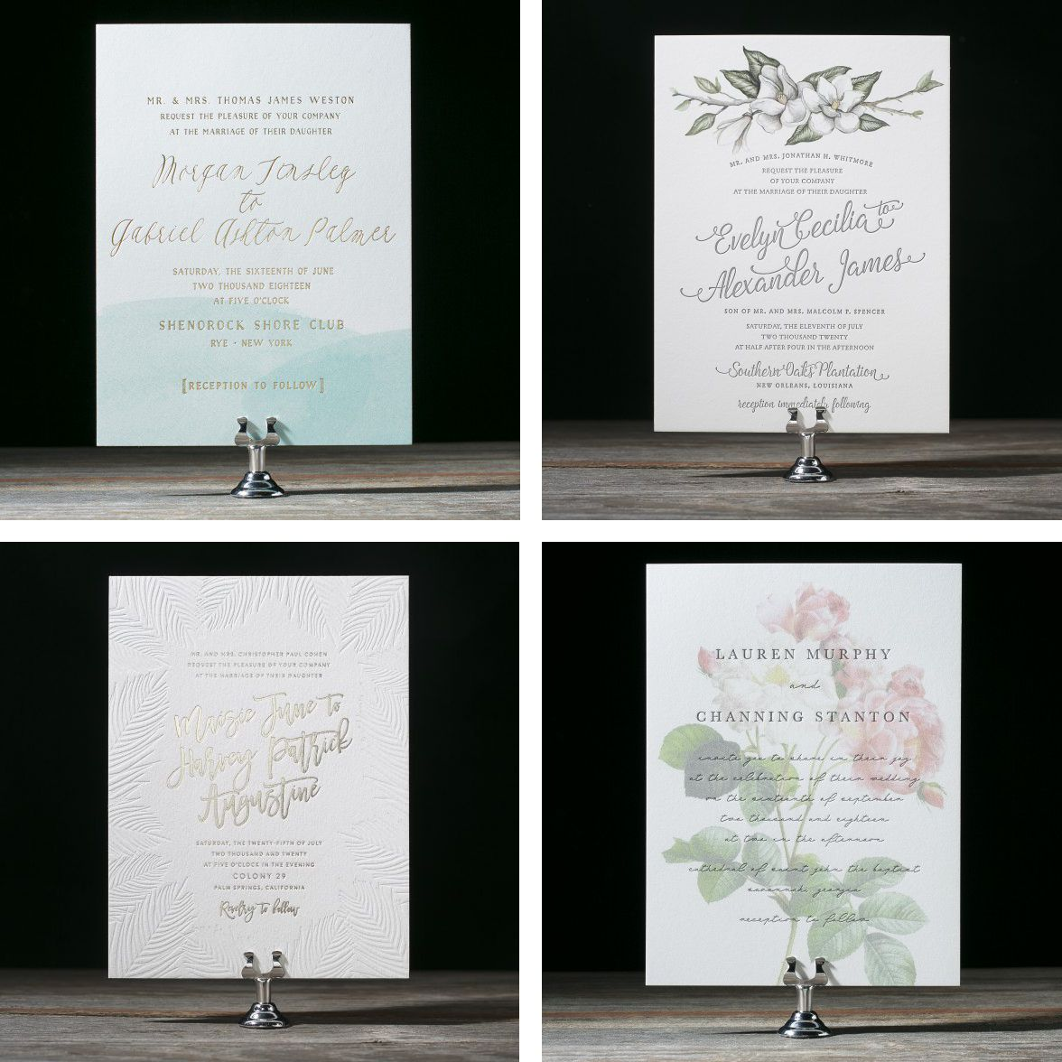wedding invitation designs to suit any style