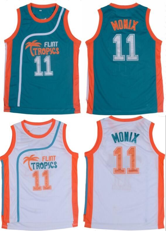 51274cfe3c6 11# Green White Jackie Moon Flint Tropical Throwback Jerseys Retro  Basketball Movie Jersey Cool Shirt Stitched Jersey Man Sc 1 St Pinterest