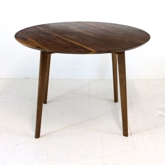 mid century modern round dining table cafe table solid walnut rh pinterest com