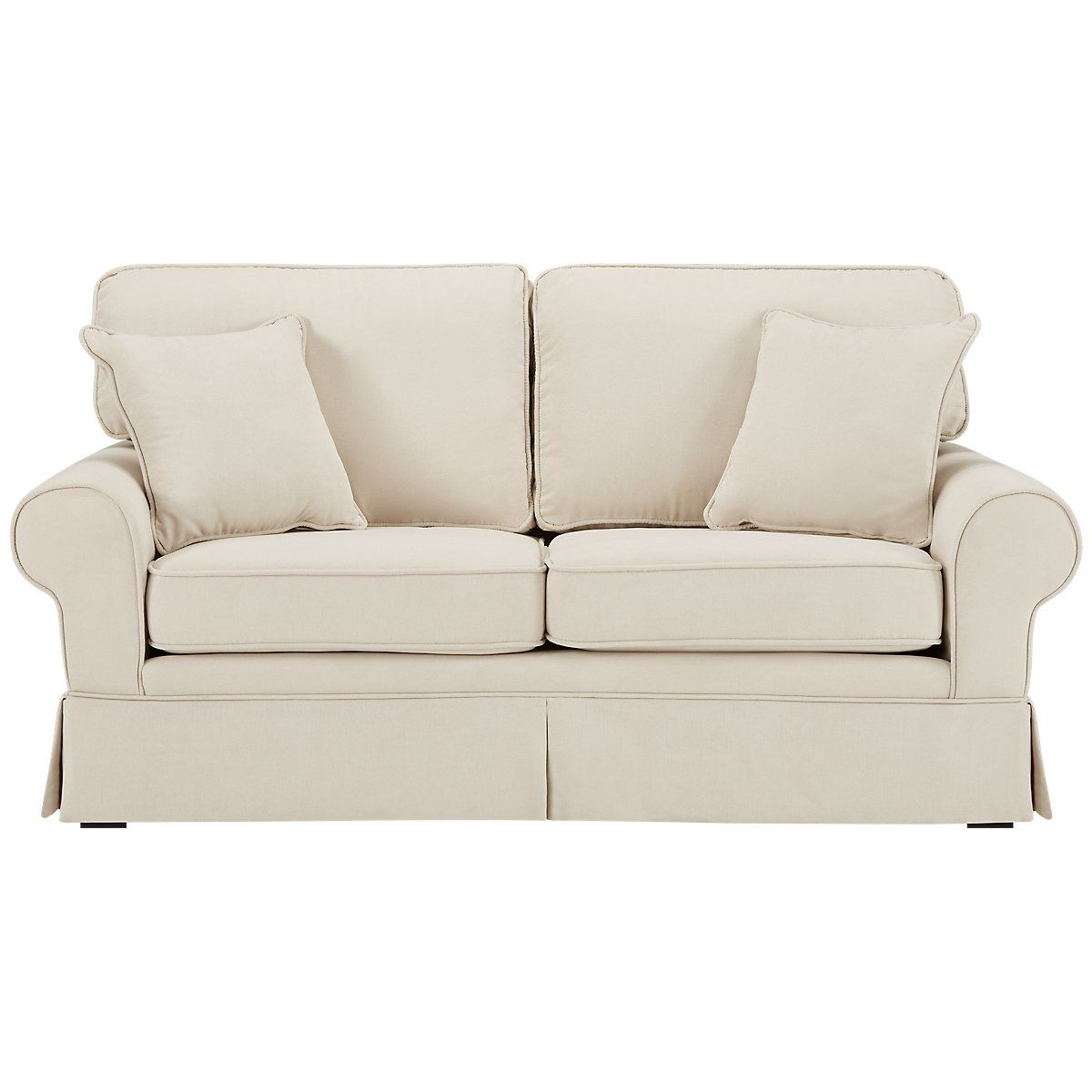Best Reese White Fabric Sofa In 2019 Small Sofa Living Room 640 x 480