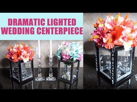 Diy Candle And Floral Holder Glass Centerpiece Riser Copycat