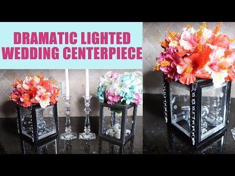 diy candle and floral holder glass centerpiece riser copycat rh pinterest com