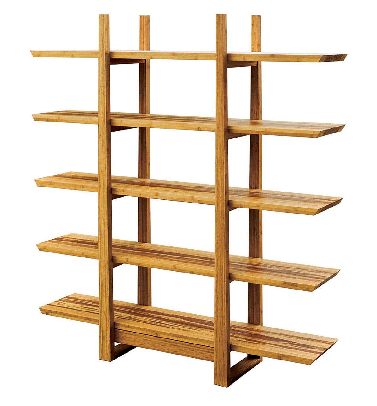 Greenington modern sustainable bamboo magnolia shelf ge in