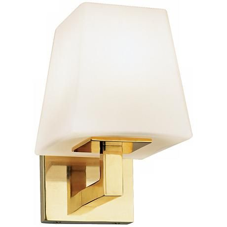 Robert Abbey Doughnut Brass Finish 8 High Wall Sconce 16035 Lampsplus Com Wall Sconce Lighting Wall Sconces Sconces