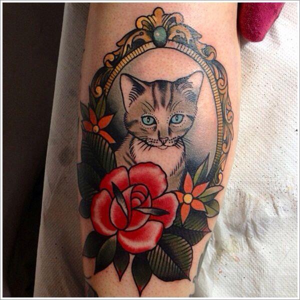Neo Traditional Cat Tattoo Designs Cat Tattoo Cat Portrait Tattoos