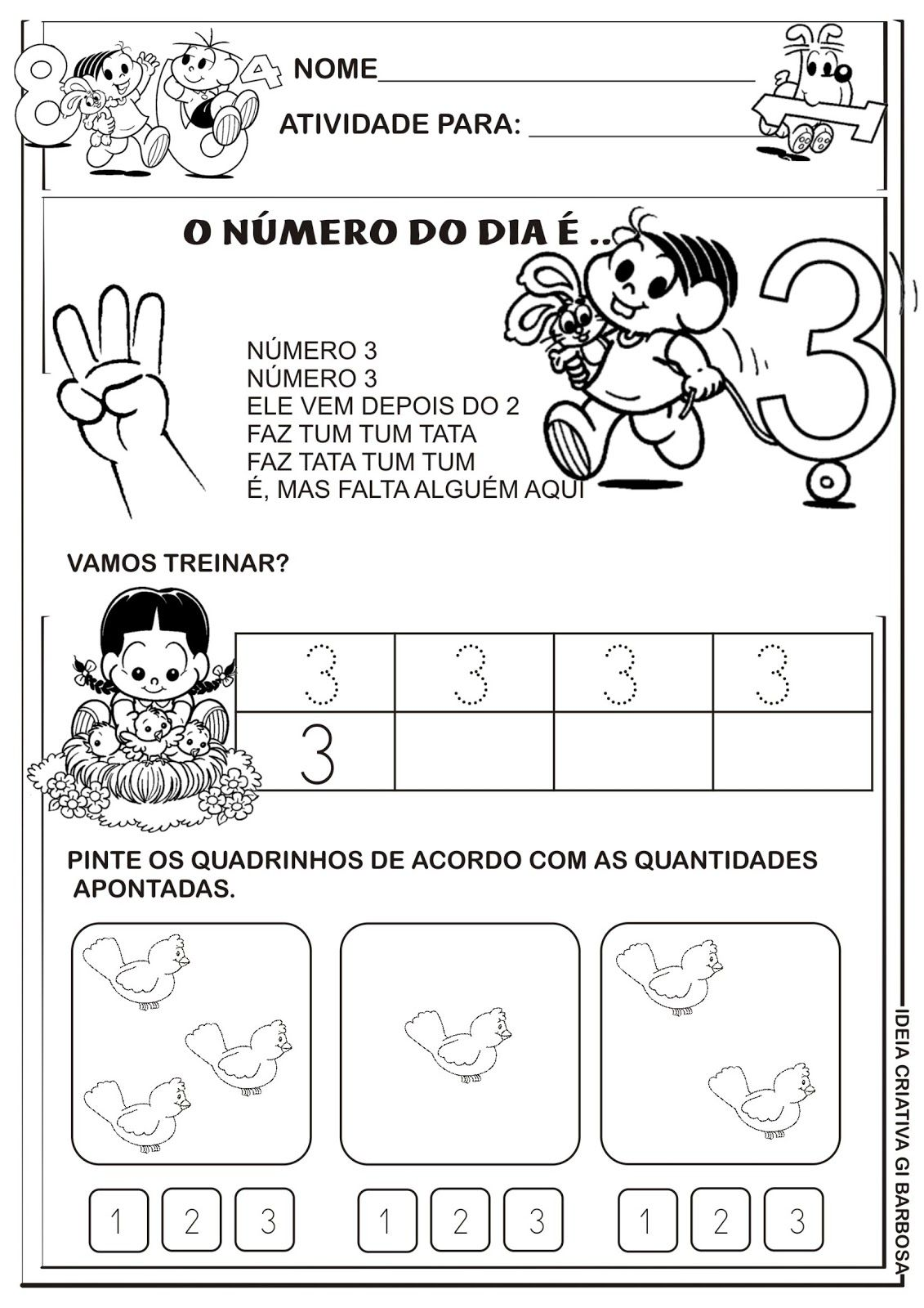 Atividades Numerais Educacao Infantil