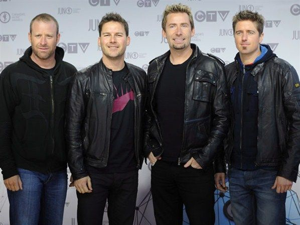 Nickelback looking handsome in leather at the 2012 JUNO Awards!
