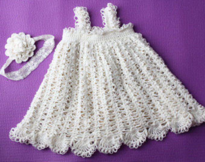 Isabel - vestido flor ganchillo patrón recién nacido, el bebé y ...