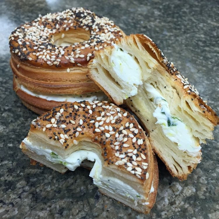 FRENAGEL ( tm) The French Croissant Bagel. Created and sold exclusively  here at fiorello dolce. Flavors include Sca…   Food, Island bakery,  Restaurant dishes