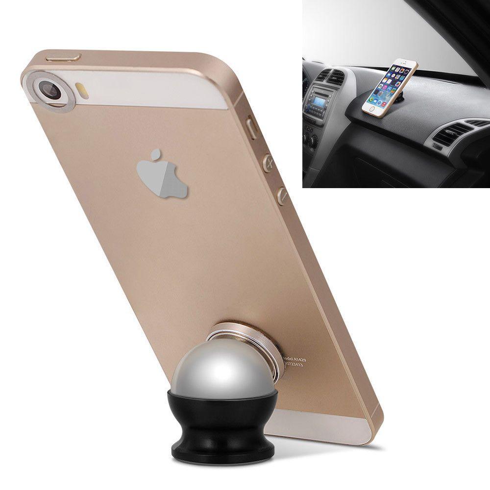 360 degree magnetic car dash mount ball dock holder for phone x 8 7 rh pinterest co uk