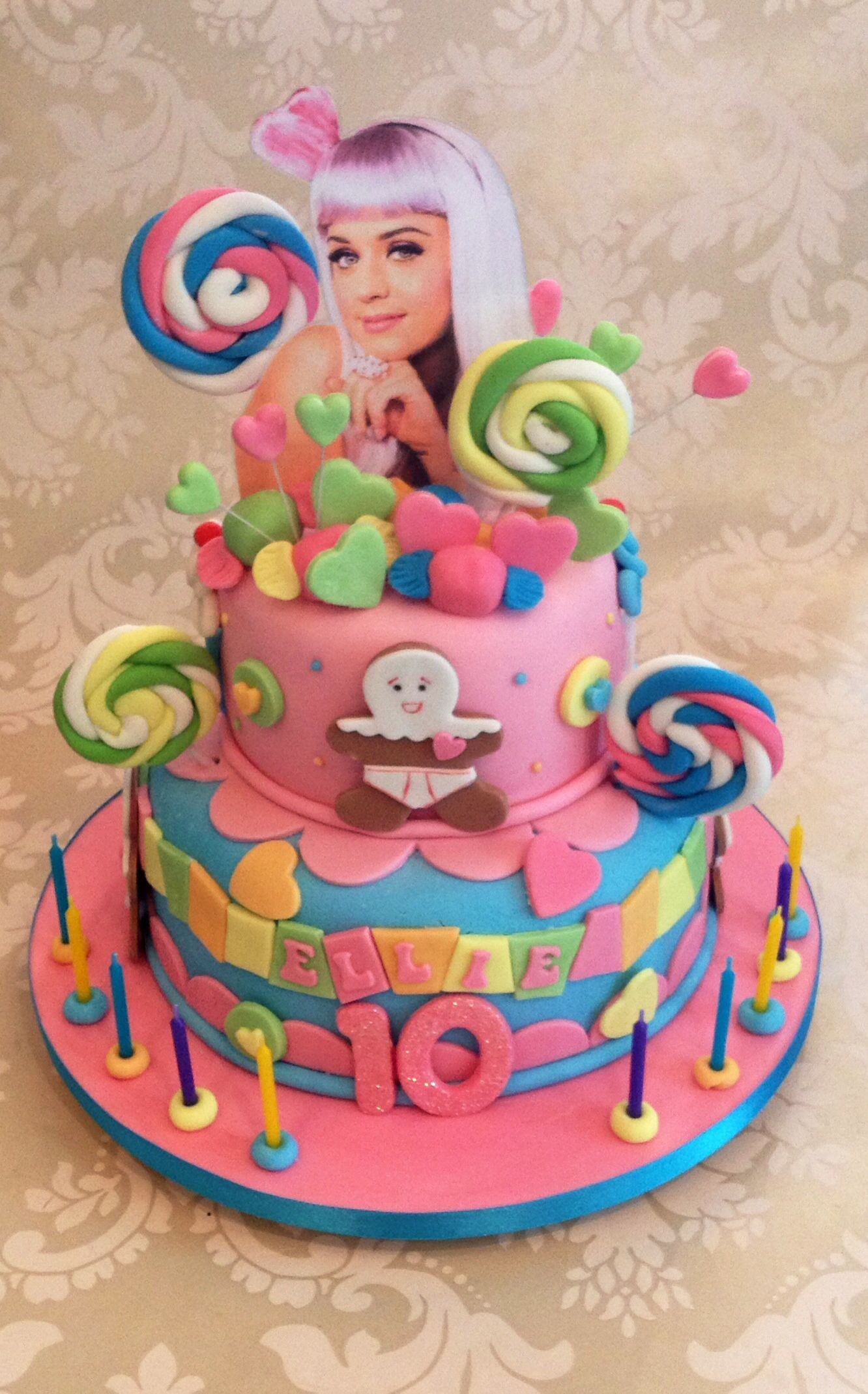 Admirable 30 Wonderful Photo Of Katy Perry Birthday Cake With Images Personalised Birthday Cards Veneteletsinfo