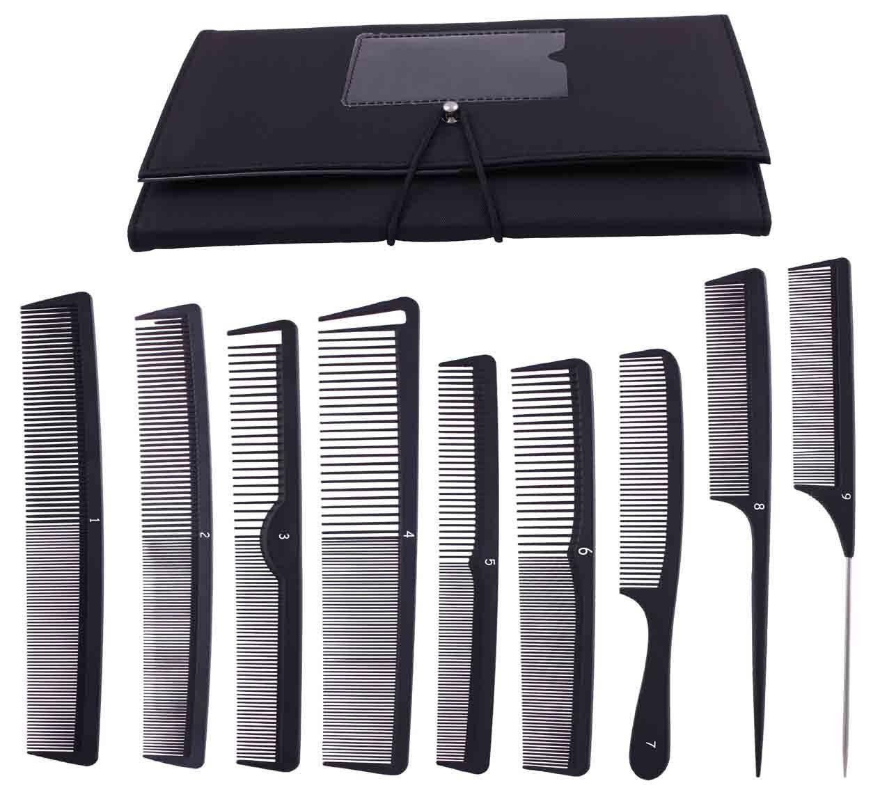 9pcs Professional Salon Hair Cutting Comb Set, Stylist
