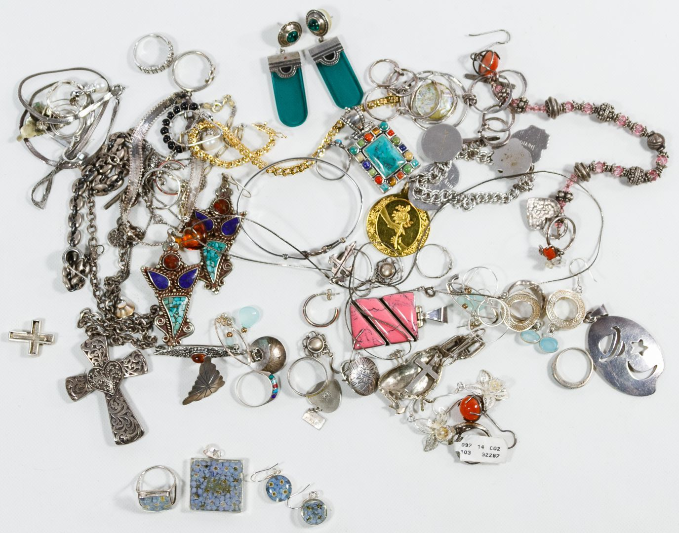e469c5b35 Lot 427: Sterling Silver Jewelry Assortment; Including pendants, earrings  and bracelets; all marked