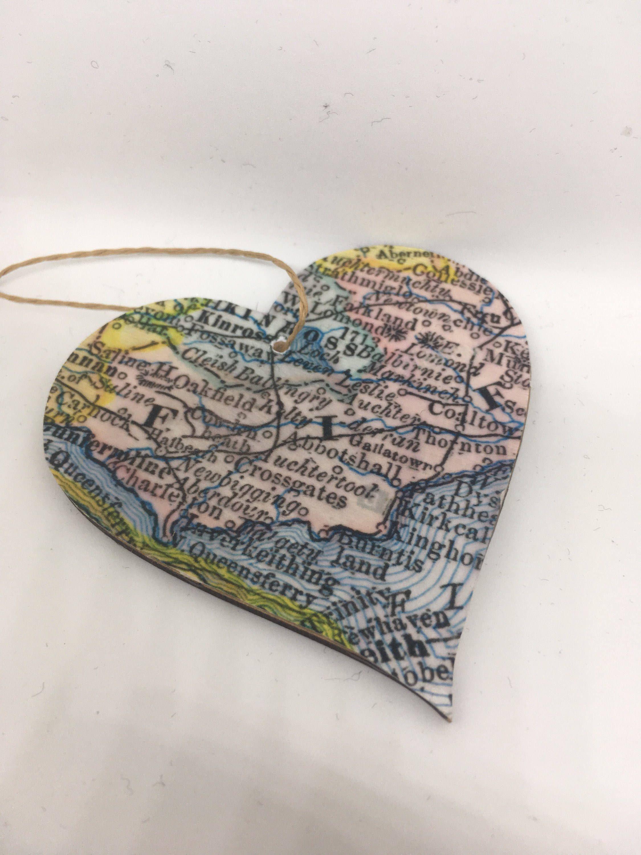 Fife Scotland Hanging Heart decorative vintage