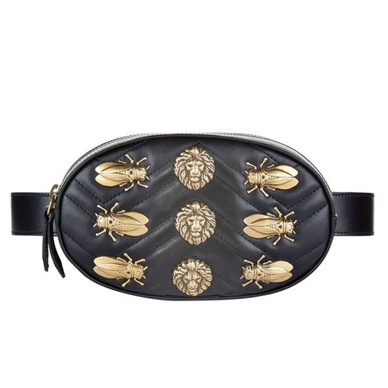 Discover ideas about Studded Purse. GG Marmont animal studs leather belt ... 11b5a88c242