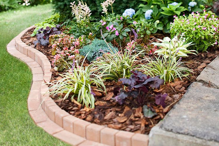 43 Best Lawn Edging Ideas 2020 Guide Brick Garden Brick Garden Edging Front Garden Landscape