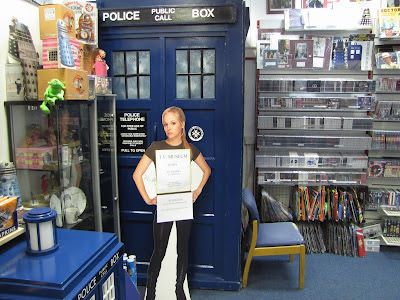 Inside the Who Shop. A local London store selling all Dr. Who merchandise.