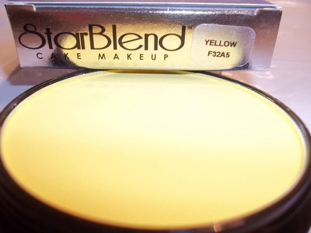 Mehron Yellow Star Blend Cake Pancake Water Base Stage Makeup Professional Usa Mehron Stage Makeup Professional Makeup