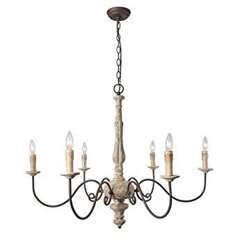 laluz 6 light shabby chic french country chandelier lighting rustic rh pinterest com