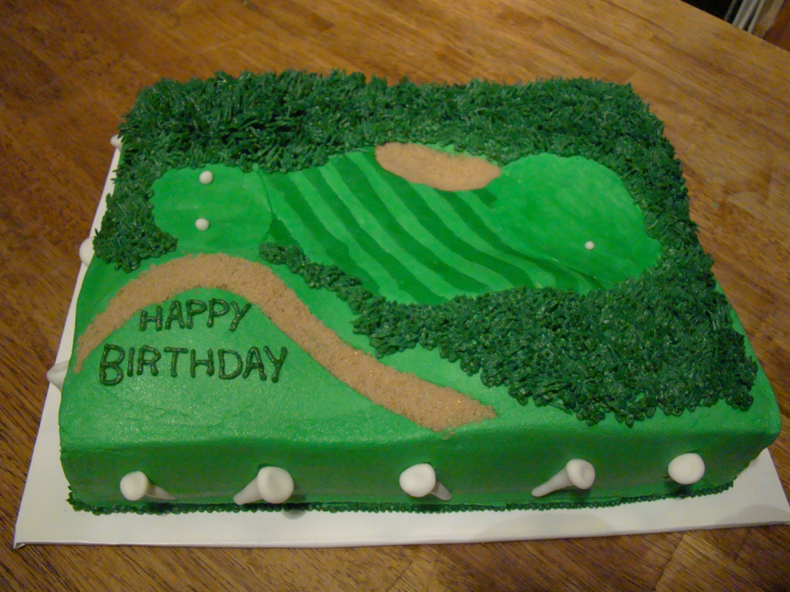 Babcakes bakery golf cake golf cake dad birthday cakes