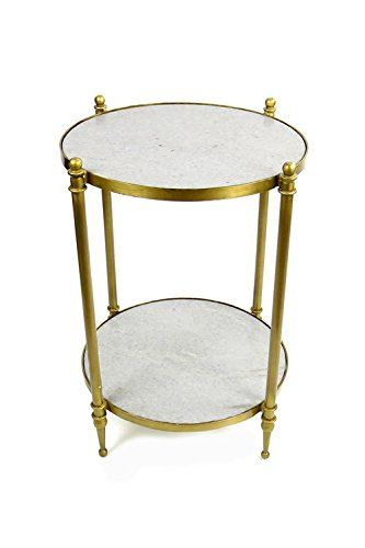 vagabond vintage 2 tiered brass finish iron side table with sanded rh pinterest com