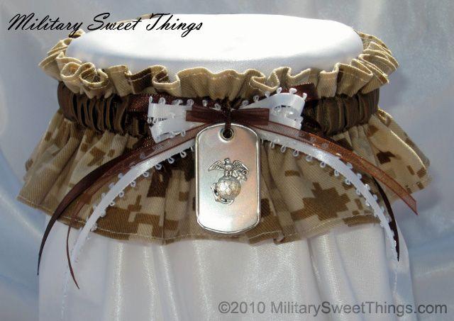 Usmc Camo Keepsake Garter With Dog Tag Charm Military Sweet Things Marines