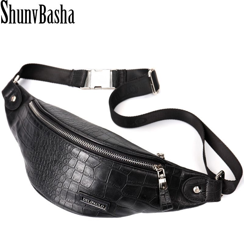 09d07b7ad3 Fashion Genuine Leather waist bag men fanny pack Leather belt bag waist  pack bag money belt