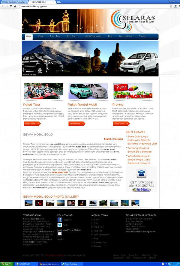 Website Tour n Travel dan Company Profile | Jasa Pembuatan Website