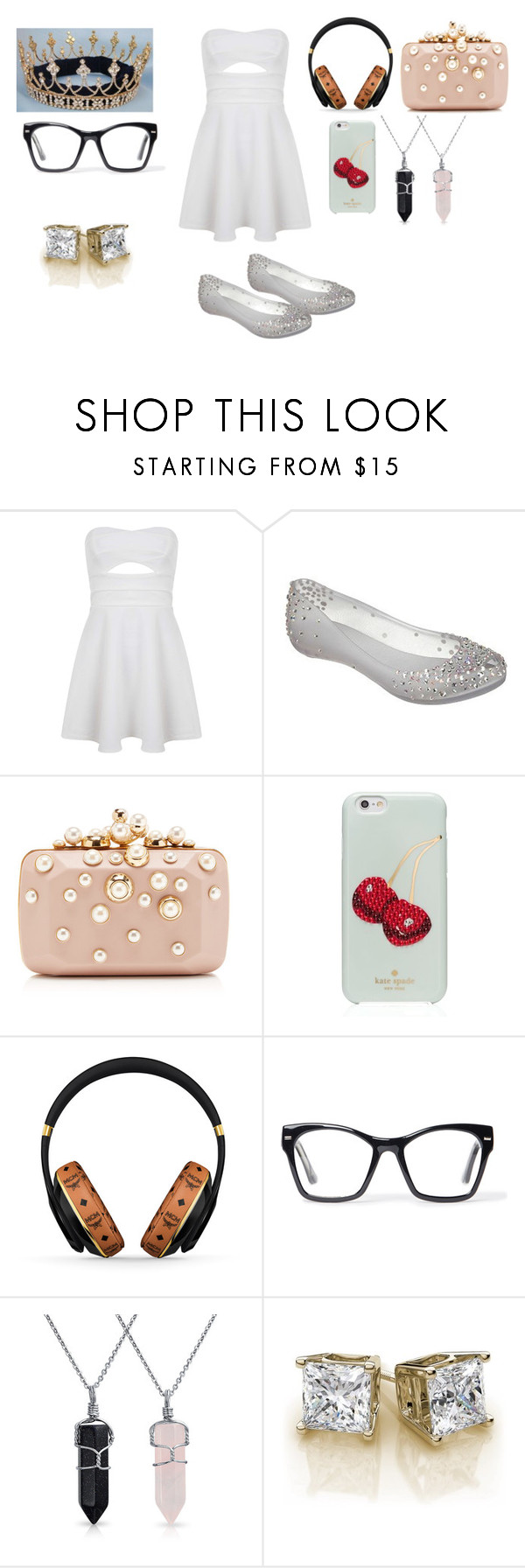 """""""Modern day music princes"""" by wookiemaster1 ❤ liked on Polyvore featuring Miss Selfridge, Melissa, Elie Saab, Kate Spade, MCM, Spitfire, Bling Jewelry and modern"""
