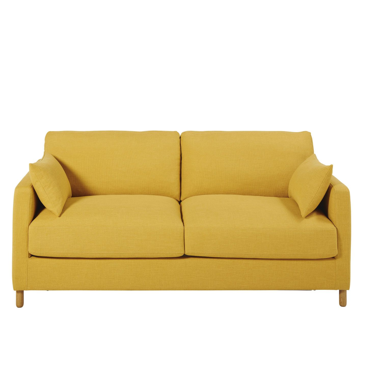 Mustard Yellow 3 Seater Sofa Bed Mattress 10 Cm Maisons Du Monde