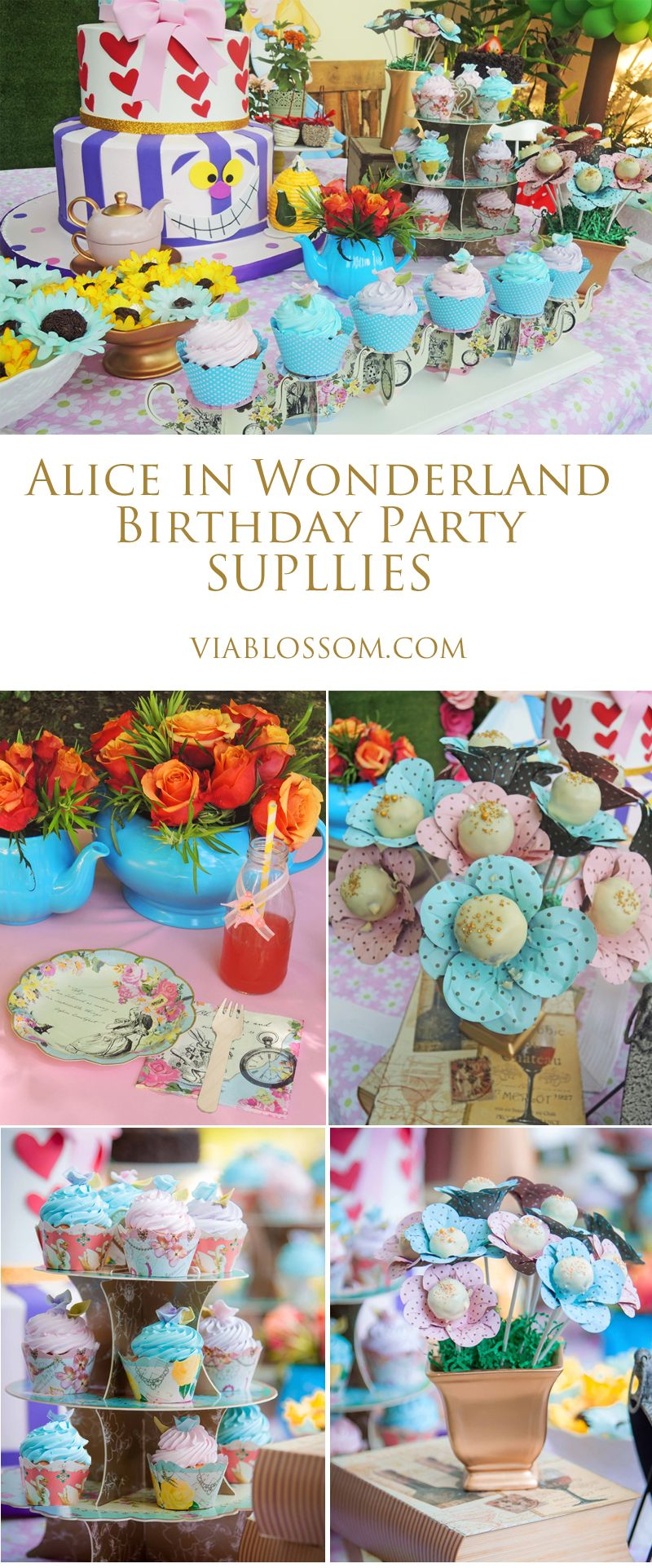 mad hatter teparty invitations pinterest%0A Magical Alice in Wonderland Party ideas and decorations  Ideal for a Mad  Hatter Tea Party