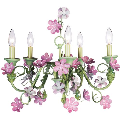 Flora green and pink chandelier from poshtots this would be so flora green and pink chandelier from poshtots this would be so cute in lilys room mozeypictures Image collections