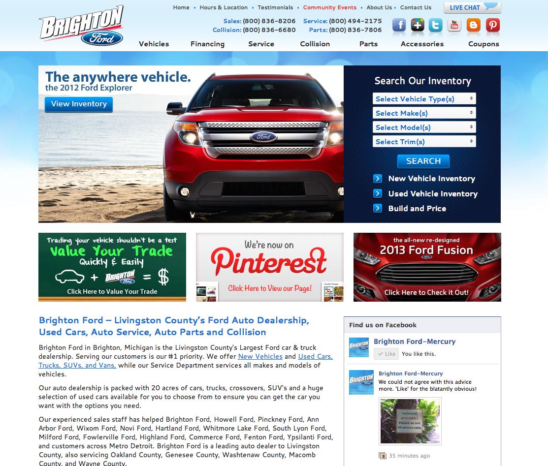 Brighton Ford Brighton Michigan Find Us On The Internet