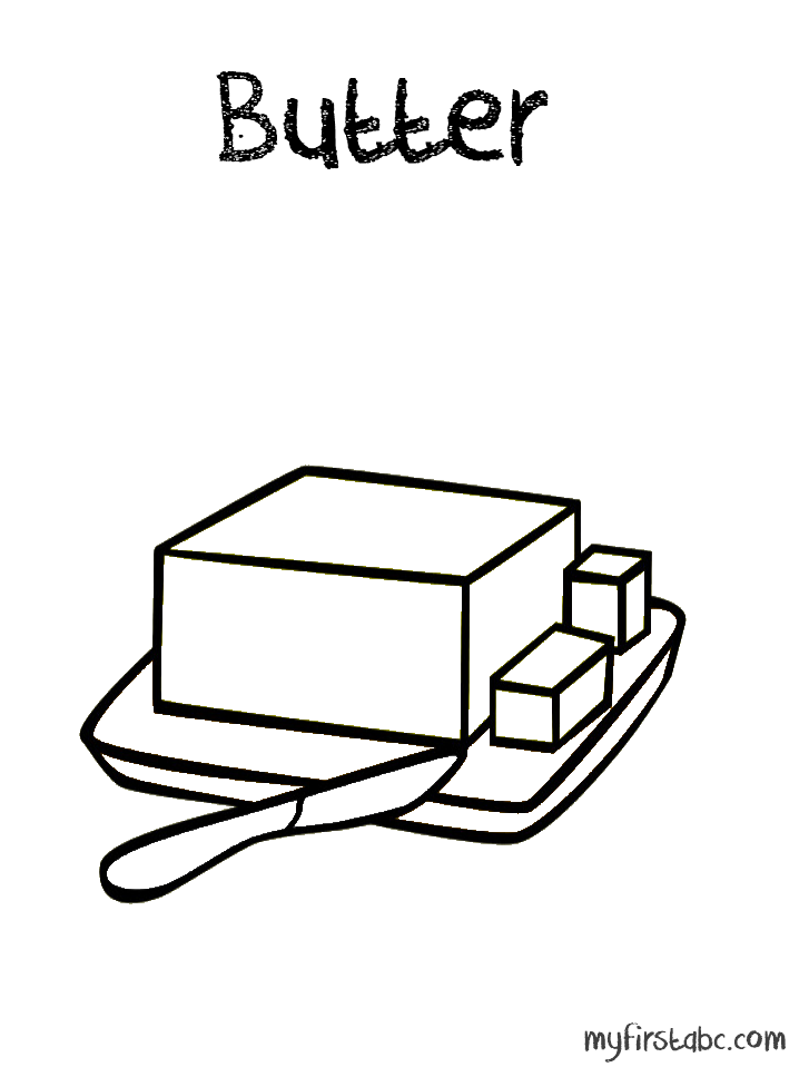 Butter Butter Coloring Page Zaa Quot ز Quot Zobda Butter زبدة