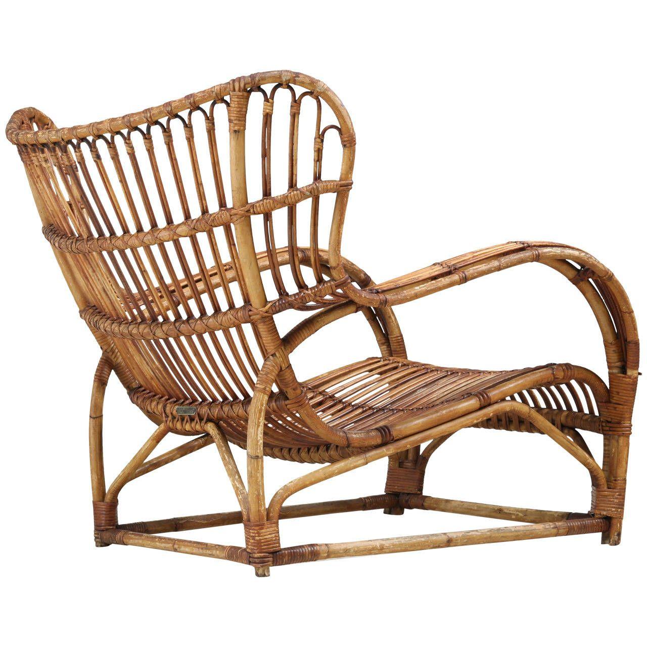 viggo boesen bamboo lounge chair for e v a nissen denmark 1930s rh pinterest com