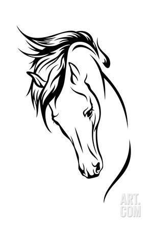 Stallion Art Print By Cattallina At Art Com Silhueta Do Cavalo